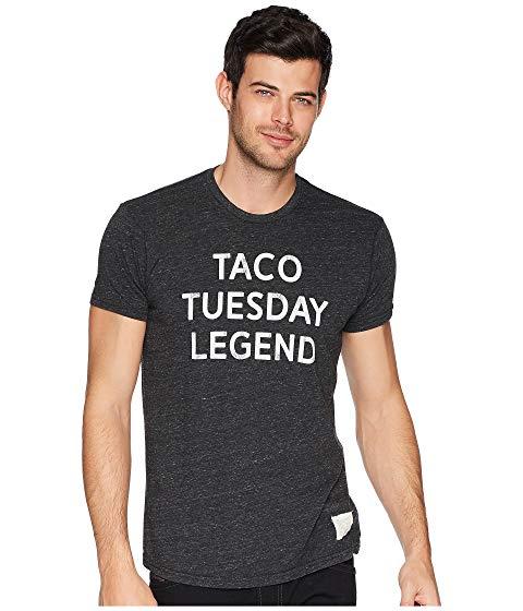THE ORIGINAL RETRO BRAND レジェンド Tシャツ メンズファッション トップス カットソー メンズ 【 Taco Tuesday Legend Tri-blend Tee 】 Streaky Black