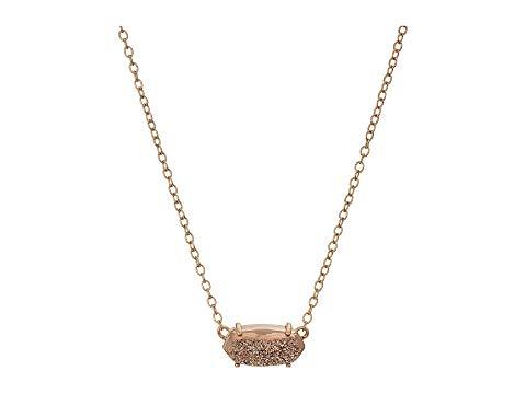 KENDRA SCOTT ネックレス ジュエリー アクセサリー レディース 【 Ever Necklace 】 Rose Gold/rose Gold Window Drusy