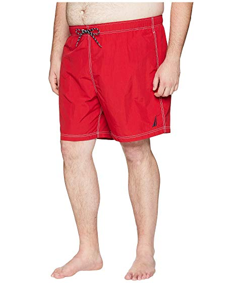 NAUTICA BIG & TALL メンズファッション 水着 メンズ 【 Big And Tall Anchor Swim Trunk 】 Nautica Red