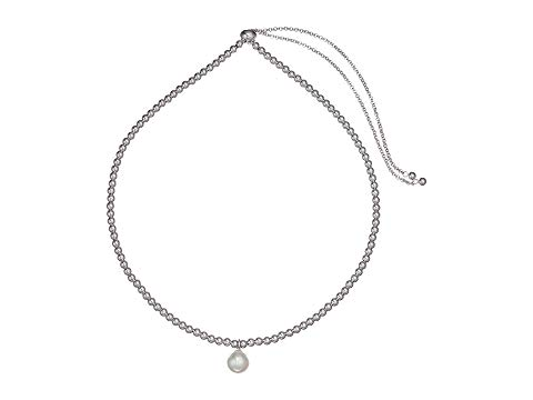 """MAJORICA パール 銀色 スチール ネックレス 1626"""" ジュエリー アクセサリー レディース 【 10mm Round Pearl On Steel Beaded Necklace 16-26"""" 】 White"""