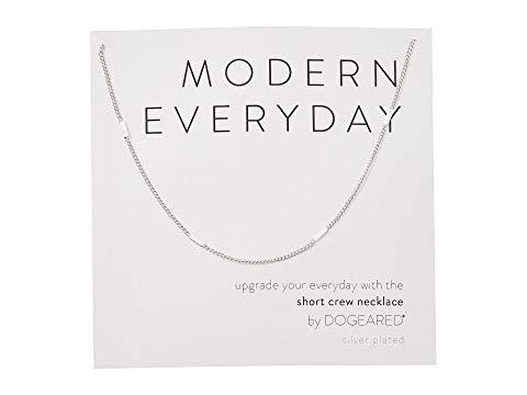 ドギャード DOGEARED モダン ネックレス Everyday, ジュエリー アクセサリー レディース 【 Modern Everyday, Short Crew Neck Necklace 】 Sterling Silver