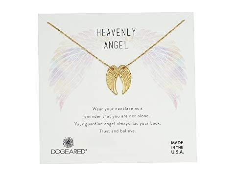 ドギャード DOGEARED サンダル ネックレス Angel, ジュエリー アクセサリー レディース 【 Heavenly Angel, Slide Through Angel Wing Necklace 】 Gold