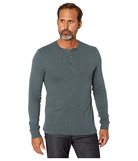 THREADS 4 THOUGHT ヘンリー メンズファッション トップス Tシャツ カットソー メンズ 【 Tri-blend Long Sleeved Henley 】 Gunmetal