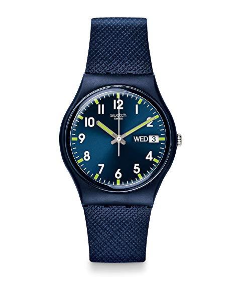 SWATCH 青 ブルー 【 BLUE SWATCH SIR GN718 】 腕時計 男女兼 腕時計