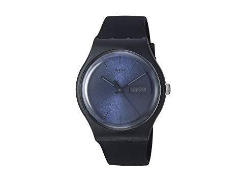 SWATCH 黒 ブラック レベル 【 BLACK SWATCH REBEL SUOB702 】 腕時計 男女兼 腕時計