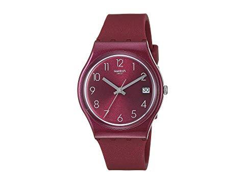 SWATCH 赤 レッド 【 RED SWATCH REDBAYA GR405 】 腕時計 男女兼 腕時計