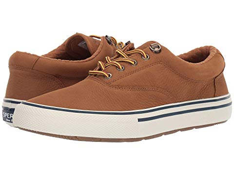 SPERRY レザー スニーカー メンズ 【 Striper Storm Cvo Wp Leather 】 Tan Nubuck