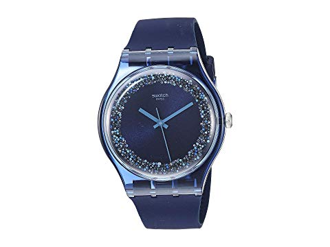 SWATCH 青 ブルー 【 BLUE SWATCH BLUSPARKLES SUON134 】 腕時計 男女兼 腕時計