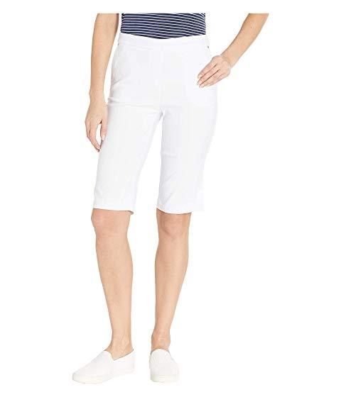 TRIBAL 白 ホワイト 【 WHITE TRIBAL STRETCH BENGALINE FLATTEN IT PULLON BERMUDA 】 レディースファッション ボトムス パンツ