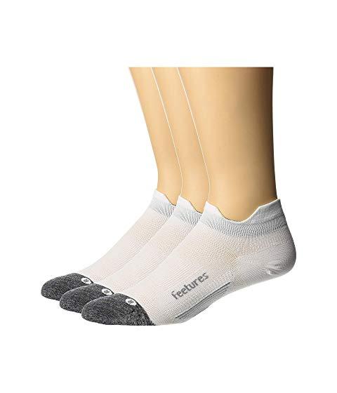 FEETURES エリート ウルトラ インナー 下着 ナイトウエア ユニセックス 下 レッグ 【 Elite Ultra Light No Show Tab 3-pair Pack 】 White