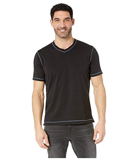 ROBERT GRAHAM ブイネック Tシャツ メンズファッション トップス カットソー メンズ 【 Maxfield V-neck T-shirt 】 Black