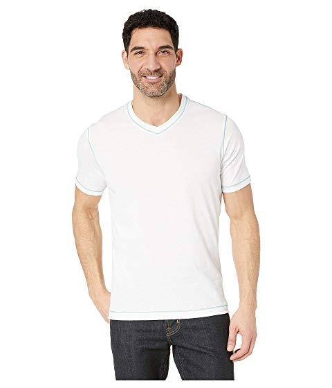 ROBERT GRAHAM ブイネック Tシャツ メンズファッション トップス カットソー メンズ 【 Maxfield V-neck T-shirt 】 White