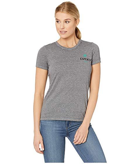 LUCKY BRAND Tシャツ ヘザー 灰色 グレ 【 HEATHER LUCKY BRAND LOS ANGELES TEE GREY 】 レディースファッション トップス Tシャツ カットソー