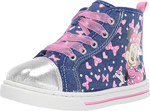 JOSMO KIDS 青 ブルー 【 BLUE JOSMO KIDS MINNIE SHEER LACE SNEAKER TODDLER LITTLE KID 】 キッズ ベビー マタニティ