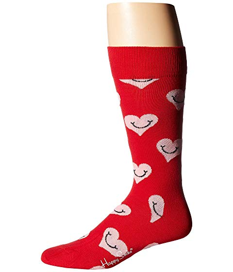 HAPPY SOCKS ソックス 靴下 赤 レッド ピンク 【 RED PINK HAPPY SOCKS SMILEY HEART SOCK 】 インナー 下着 ナイトウエア メンズ 下 レッグ