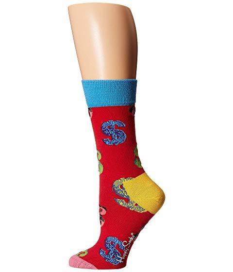 HAPPY SOCKS インナー 下着 ナイトウエア レディース 下 レッグ 【 Andy Warhol Dollar Sock 】 Red