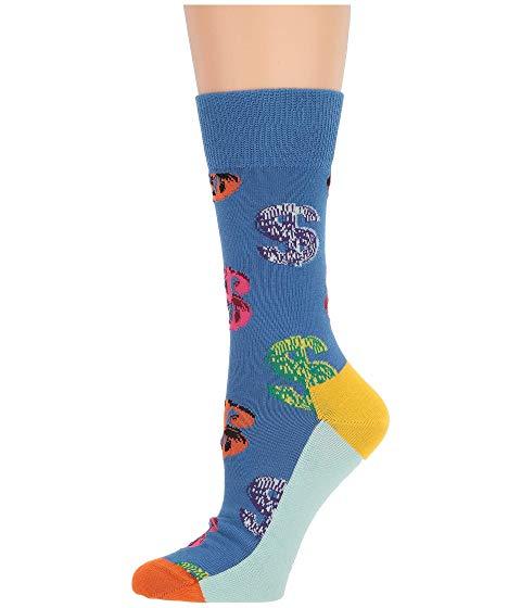 HAPPY SOCKS インナー 下着 ナイトウエア レディース 下 レッグ 【 Andy Warhol Dollar Sock 】 Blue Multi
