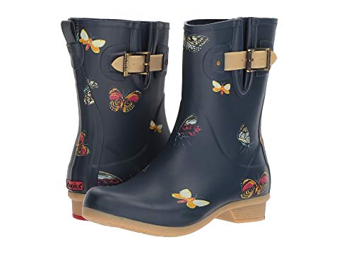 【★スーパーセール中★ 6/11深夜2時迄】チューカ CHOOKA ミッド メンズ ブーツ レディース 【 Butterfly Mid Rain Boots 】 Navy