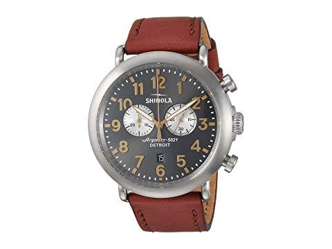 SHINOLA DETROIT デトロイト 【 SHINOLA DETROIT THE RUNWELL CHRONOGRAPH TITANIUM 47MM 20109230 DARK COGNAC GUNMETAL 】 腕時計 レディース腕時計