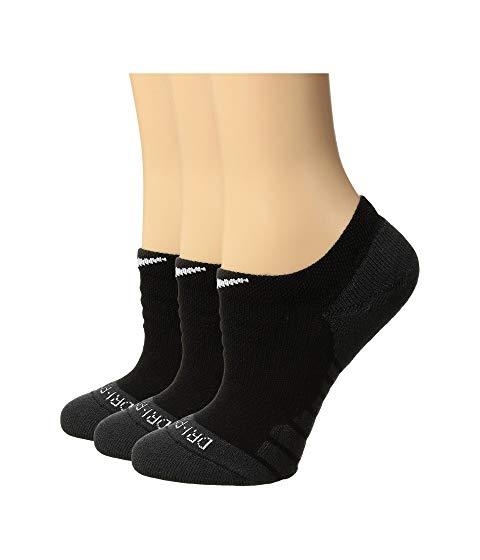 ナイキ NIKE トレーニング ソックス 靴下 インナー 下着 ナイトウエア レディース 下 レッグ 【 Dry Cushion No Show Training Socks 3-pair Pack 】 Black/anthracite/white