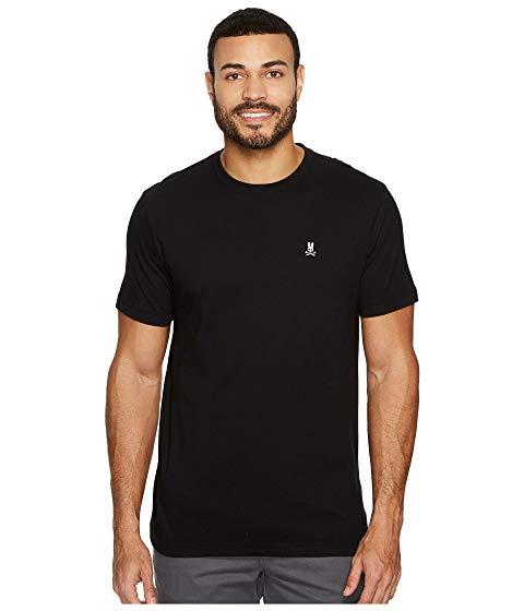 PSYCHO BUNNY Tシャツ 黒 ブラック 【 BLACK PSYCHO BUNNY CREW NECK TSHIRT 】 メンズファッション トップス Tシャツ カットソー