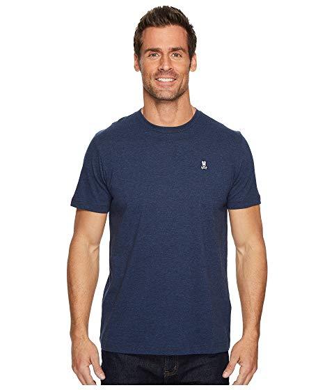 PSYCHO BUNNY Tシャツ メンズファッション トップス カットソー メンズ 【 Crew Neck T-shirt 】 Heather Navy