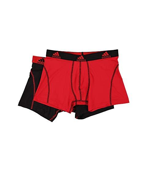 アディダス ADIDAS パフォーマンス インナー 下着 ナイトウエア メンズ 【 Sport Performance Climalite 2-pack Trunk 】 Real Red/black/black/real Red