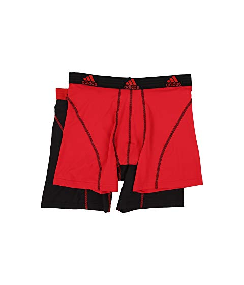 アディダス ADIDAS パフォーマンス インナー 下着 ナイトウエア メンズ 【 Sport Performance Climalite 2-pack Boxer Brief 】 Real Red/black/black/real Red