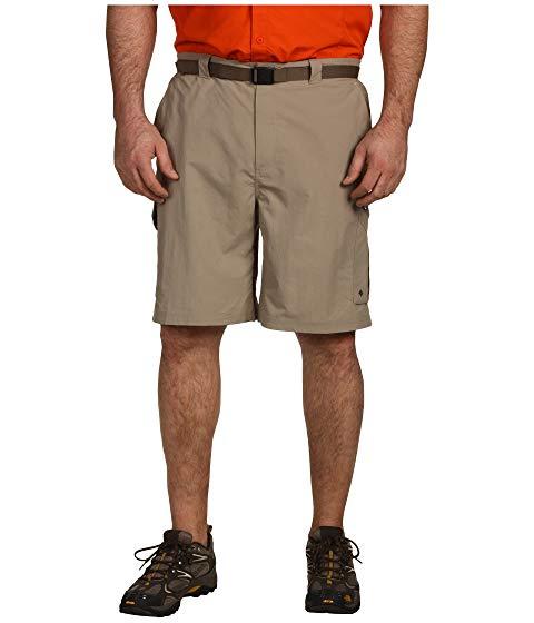 コロンビア COLUMBIA 銀色 シルバー カーゴ & 【 SILVER COLUMBIA BIG TALL RIDGE CARGO SHORT 4254 TUSK 】 メンズファッション ズボン パンツ
