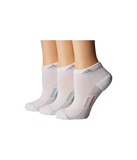 アディダス ADIDAS ストライプ ソックス 靴下 Climacool・・ インナー 下着 ナイトウエア レディース 下 レッグ 【 Climacool・・ Superlite Stripe Low Cut Socks 3-pack 】 White/clear Grey/light Flash Orange/frozen Green/ic