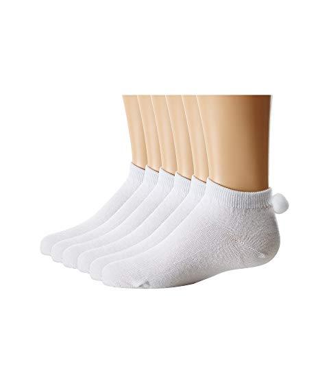 JEFFERIES SOCKS ソックス 靴下 白 ホワイト 【 WHITE JEFFERIES SOCKS POM PED 6PACK TODDLER LITTLE KID BIG 】 キッズ ベビー マタニティ 下