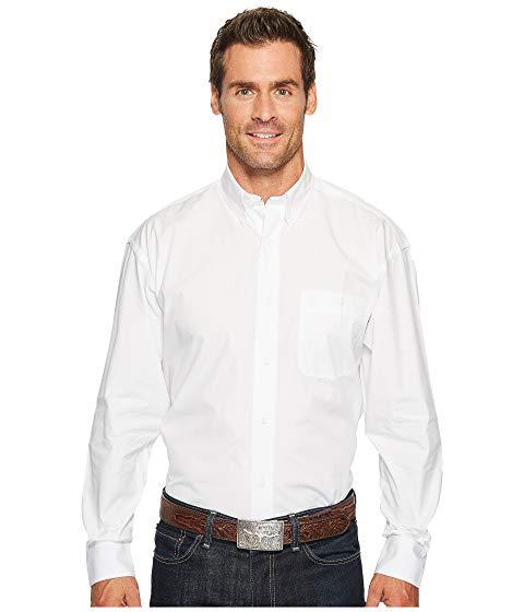 WRANGLER ソリッド 白 ホワイト 【 WHITE WRANGLER GEORGE STRAIT SHIRT SOLID 】 メンズファッション トップス カジュアルシャツ