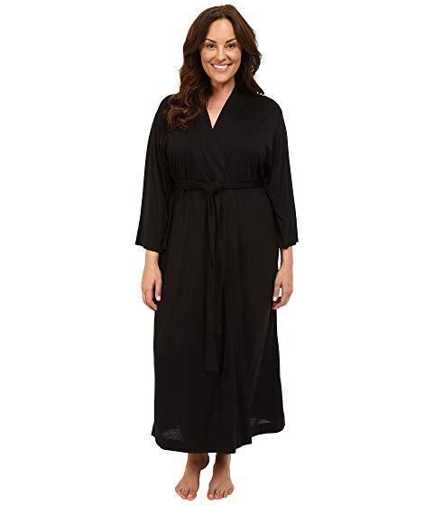 NATORI インナー 下着 ナイトウエア レディース ナイト ルーム パジャマ 【 Plus Size Shangri-la Robe 】 Black
