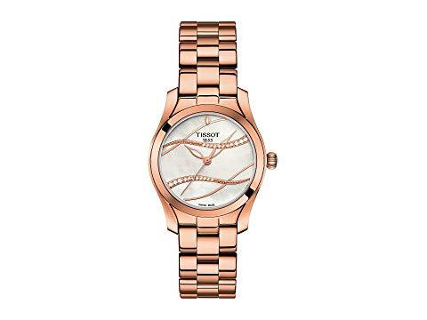 TISSOT 銀色 シルバー ローズ 金色 ゴールド 【 SILVER ROSE TISSOT TWAVE T1122103311100 GOLD 】 腕時計 レディース腕時計