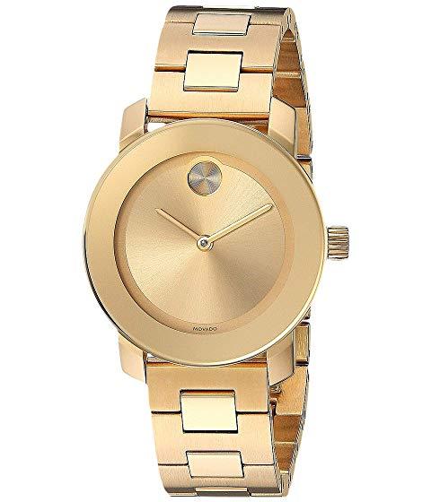 MOVADO 金色 ゴールド 銀色 スチール 【 MOVADO BOLD 3600434 IONIC GOLD PLATED STEEL 】 腕時計 レディース腕時計