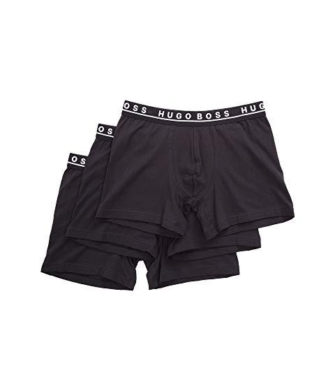 ボスヒューゴボス BOSS HUGO BOSS インナー 下着 ナイトウエア メンズ 【 Boxer Brief 3-pack Co/el 10146061 01 】 Black
