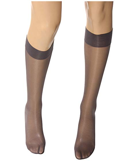 WOLFORD サテン タッチ インナー 下着 ナイトウエア レディース 下 レッグ 【 Satin Touch 20 Knee-highs 】 Steel/stealth Gray/stealth Gray
