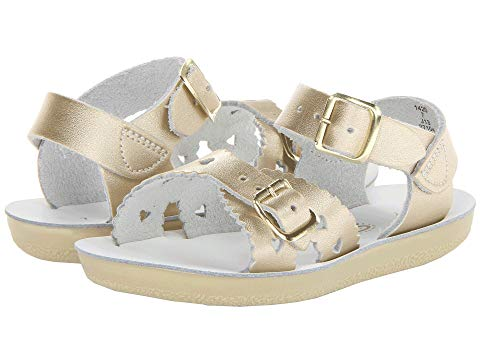 SALT WATER SANDAL BY HOY SHOES 【 SUNSAN SWEETHEART TODDLER LITTLE KID GOLD 】 キッズ ベビー マタニティ 送料無料