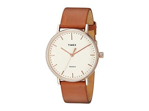 TIMEX タイメックス ストラップ 茶 ブラウン ナチュラル 【 BROWN TIMEX FAIRFIELD TWOPIECE STRAP 3HAND NATURAL 】 腕時計 レディース腕時計
