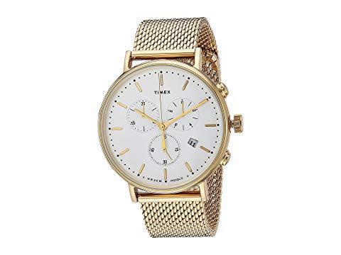 TIMEX タイメックス 白 ホワイト 【 WHITE TIMEX FAIRFIELD CHRONO MESH GOLD 】 腕時計 レディース腕時計