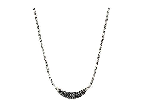 JOHN HARDY クラシック ネックレス 黒 ブラック 銀色 シルバー 【 BLACK SILVER JOHN HARDY CLASSIC CHAIN ARCH NECKLACE WITH SAPPHIRE AND SPINEL 】 ジュエリー アクセサリー
