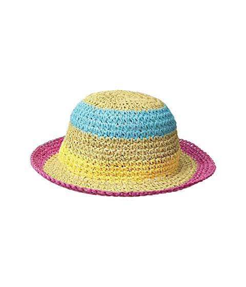 SAN DIEGO HAT COMPANY KIDS ストライプ キッズ ベビー マタニティ キャップ 帽子 ジュニア 【 Paper Crochet Stripe Sun Brim (infant) 】 Brights