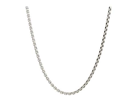 JOHN HARDY ボックス ネックレス 銀色 シルバー 3.7MM 【 SILVER JOHN HARDY BOX CHAIN NECKLACE SIZE 24 】 ジュエリー アクセサリー メンズジュエリー ネックレス