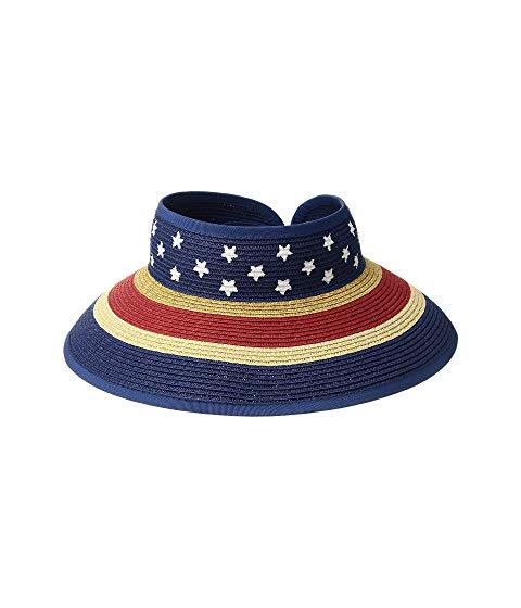 SAN DIEGO HAT COMPANY KIDS キッズ ベビー マタニティ キャップ 帽子 ジュニア 【 Striped Roll Up W/ Painted Pattern (little Kids/big Kids) 】 Navy