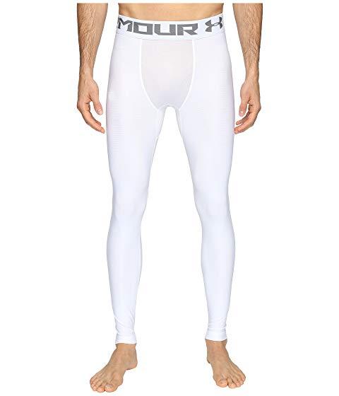 アンダーアーマー UNDER ARMOUR 2.0 【 HEATGEAR LEGGINGS WHITE 】 メンズファッション ズボン パンツ 送料無料