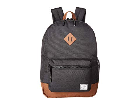 HERSCHEL SUPPLY CO. KIDS 子供用 バックパック バッグ リュックサック キッズ ベビー マタニティ ランドセル ジュニア 【 Heritage Youth Xl Backpack (youth) 】 Black/saddle Brown