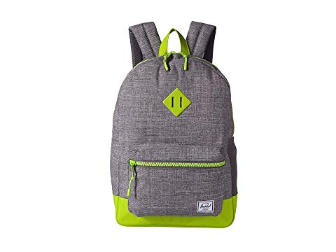 HERSCHEL SUPPLY CO. KIDS 子供用 バックパック バッグ リュックサック キッズ ベビー マタニティ ランドセル ジュニア 【 Heritage Youth Xl Backpack (youth) 】 Raven Crosshatch/lime Green