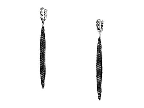 JOHN HARDY クラシック 黒 ブラック 銀色 シルバー 【 BLACK SILVER JOHN HARDY CLASSIC CHAIN DROP EARRINGS WITH SAPPHIRE AND SPINEL 】 ジュエリー アクセサリー