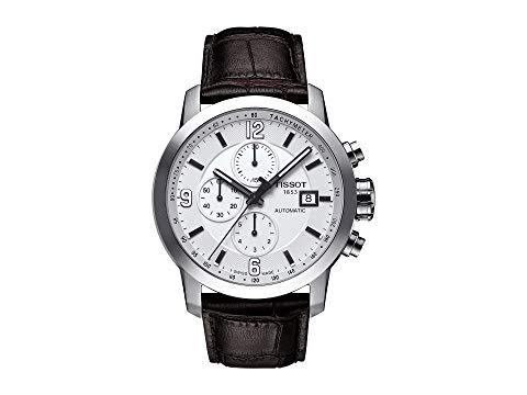 TISSOT 茶 ブラウン 【 BROWN TISSOT PRC 200 AUTOMATIC CHRONOGRAPH T0554271601700 MOTHEROFPEARL 】 腕時計 メンズ腕時計