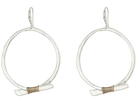 ROBERT LEE MORRIS フープ 【 ROBERT LEE MORRIS TWOTONE WIRE WRAPPED SCULPTURAL GYPSY HOOP EARRINGS 】 ジュエリー アクセサリー